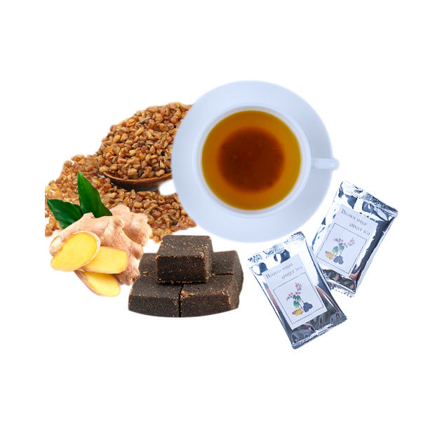 Private label orgaic herbal brown sugar ginger tea instant buckwheat tea for improving woman health and relive period pain