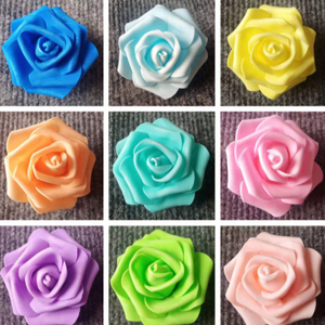 Simulation pe foam rose flower 6-10cm flower head wedding Valentine's day bouquet packaging diy material flower head