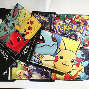 UFOGIFT Anime japonés PU cuero Pokemon billeteras monedero billetera Pikachu