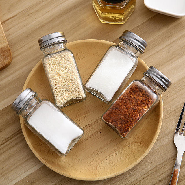 wholesale 50g glass spice bottle 120ml glass seasoning jar for kitchen