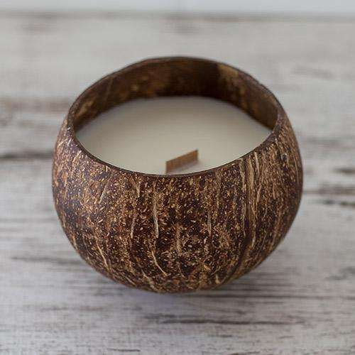 COCONUT CANDLE SOY WAX PALM WAX BEE WAX ECO FRIENDLY COCONUT SHELL BOWL HANDMADE VIETNAM COCO CANDLE MANY SCENTS