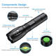 Focus Flashlight Led Flashlights High Power 5 Modes Zoomable Adjustable Focus Torch Tactical 700 Lumens Led Torch Flashlight For Hunting Cycling Climbing Camping