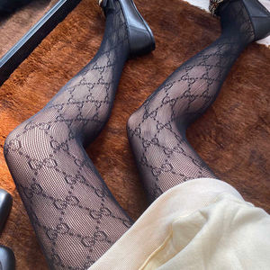 Gg brand logo fishnet tights pantyhose letter print popular tights customize