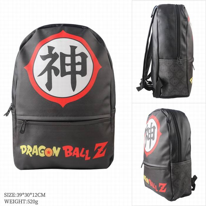 H ot vente DRAGON BALL Couleur couleur surface en cuir Mode sac à dos 39X20X12CM