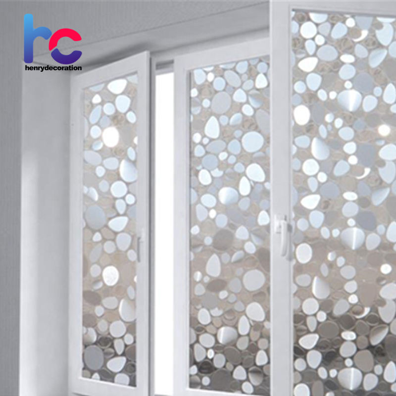 Frosted cobblestone pattern uv protection durable window glass film for smooth glass surface decoration window film