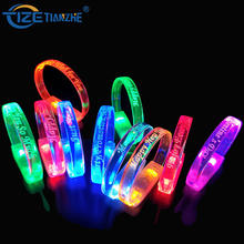 China Supplier Hot Sale Led Party Glow Dark Bracelets Bangles