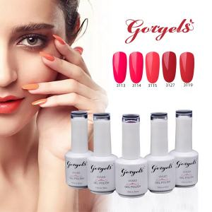 Gorgels Fashional Durable Imbibent Couleur Unie Uv Gel Vernis À Ongles