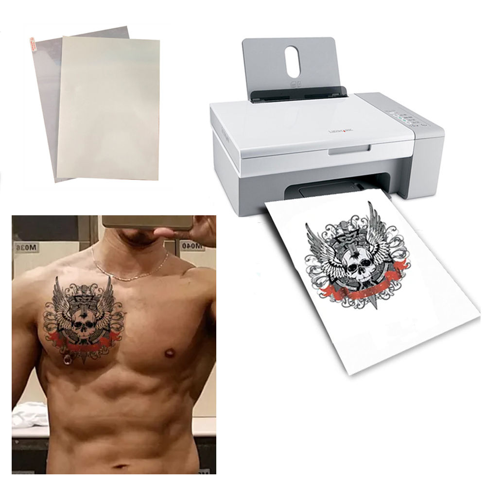 Printable A4 blank Laser/Inkjet temporary tattoo paper decal sticker paper waterproof blank tattoo paper