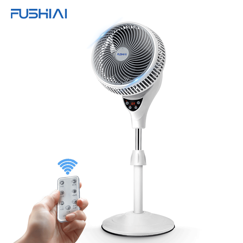 DC Brushless Motor Rechargeable 9 Inch Air Circulation Stand Pedestal Fans with Remote-control