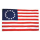 100% polyester American Colonial 13 Stars Betsy Ross Flag silk screen printing banner 3x5
