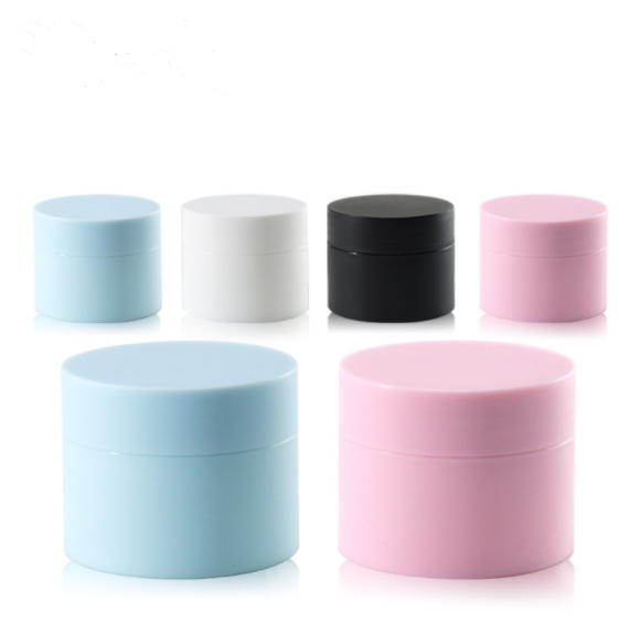 5g 15 20 30 50 80g matt White black pink plastic cosmetic cream jar container / fancy double wall jars