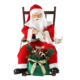 80cm Christmas Animated sitting Chair Santa Claus with Lighting Ornament Decoration Holiday Figurine Collection Traditional