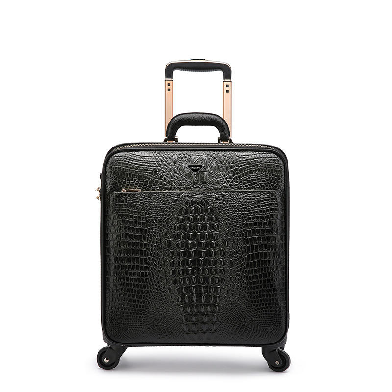 "Alligator style business suitcase 16 ""20"" genuine leather luggage for wholesale"