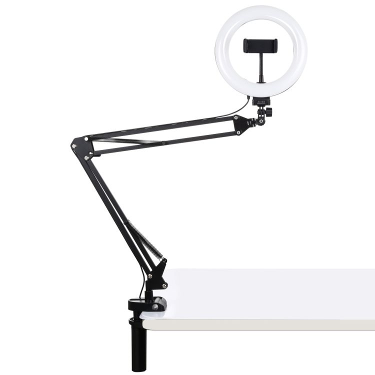 PULUZ 7.9 Inch 20Cm Vlogging Selfie Fotografi Video Lampu dengan Ponsel Clamp