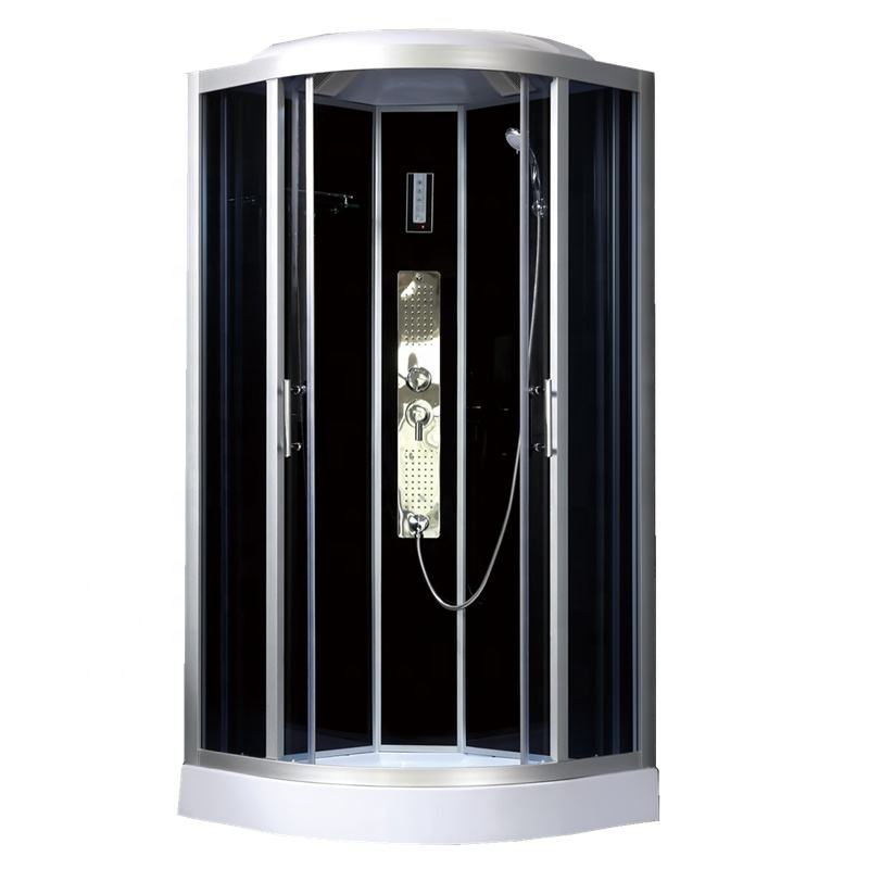 Luxury safety glass and used steam shower stall with accessories and cheap price