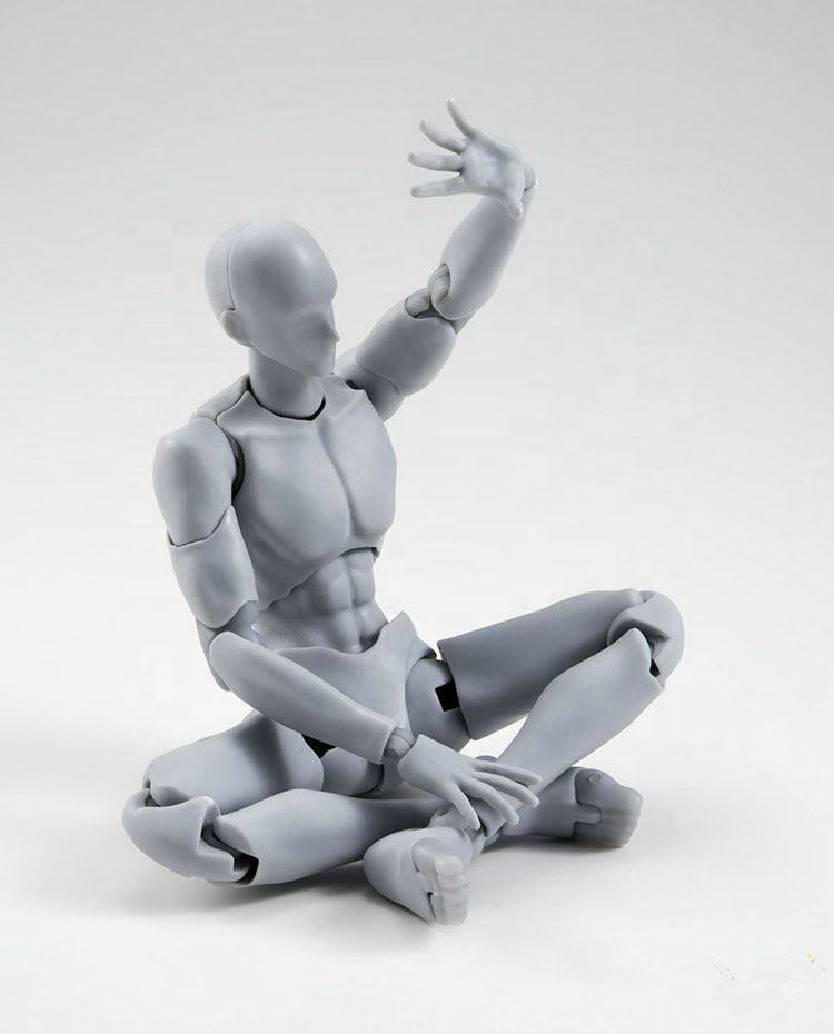 Can Be Painting New Male And Female Body 2.0 Gray Dx Version Character Action Model Figures