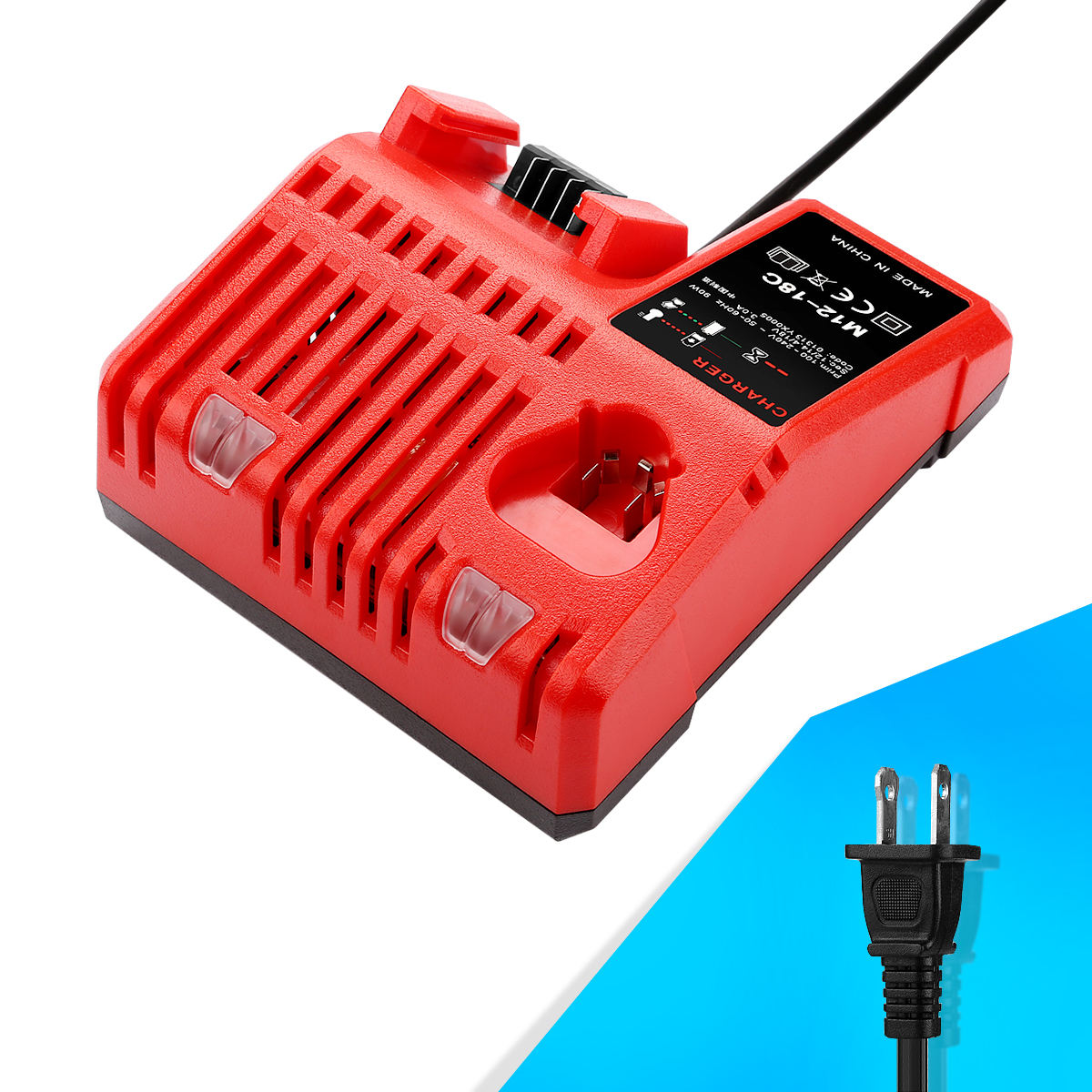 Replacement High Quality Li-ion Power Tool Battery Universal Charger For Milwaukee 12V 18V Rapid Charger