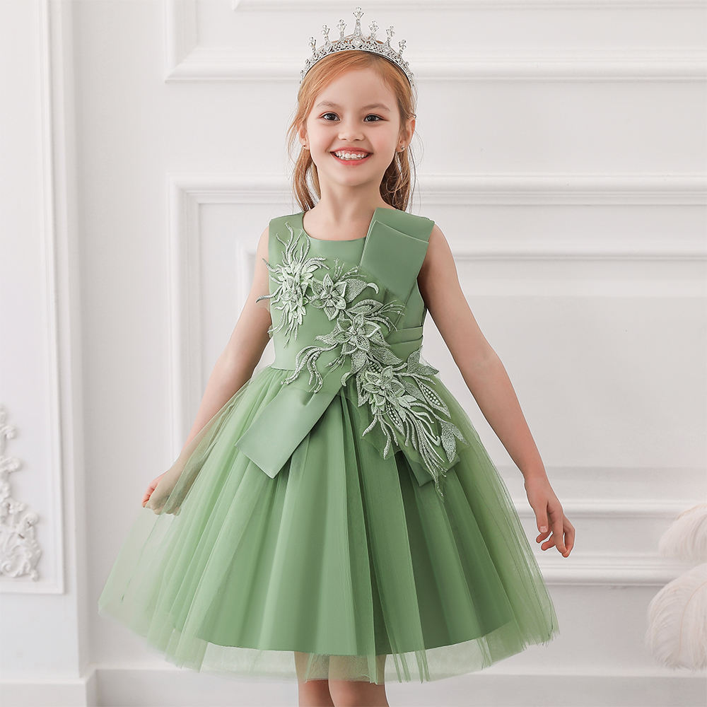 High Quality Baby Girl Ruffle Clothes Fashion Child Party frocks dress L5150