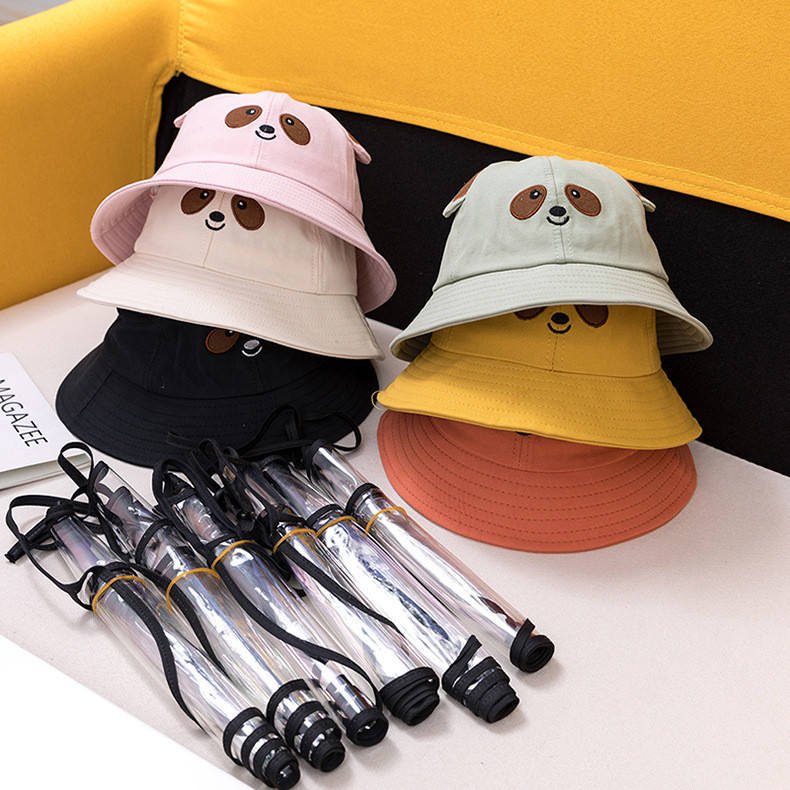 2020 Anti Spray Protective Super Cute Little Bear Cartoon Baby Basin Hats Shade Sunscreen Kids hats
