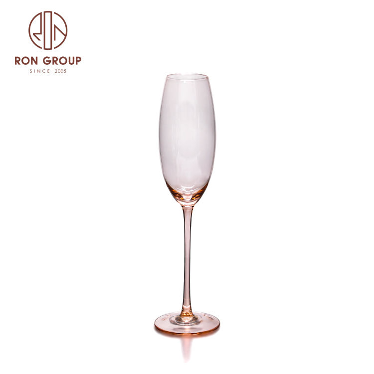 customized clear color wedding favors crystal drinking cup set glass champagne flutes