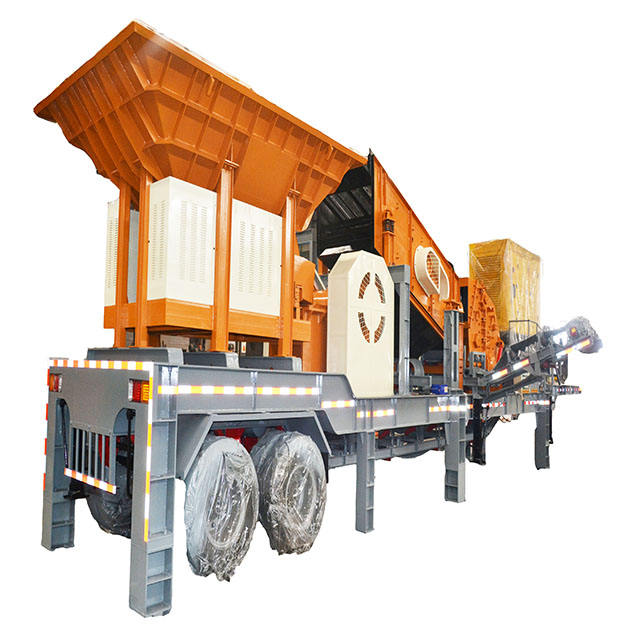 High stable mobile crushing plant for quarry