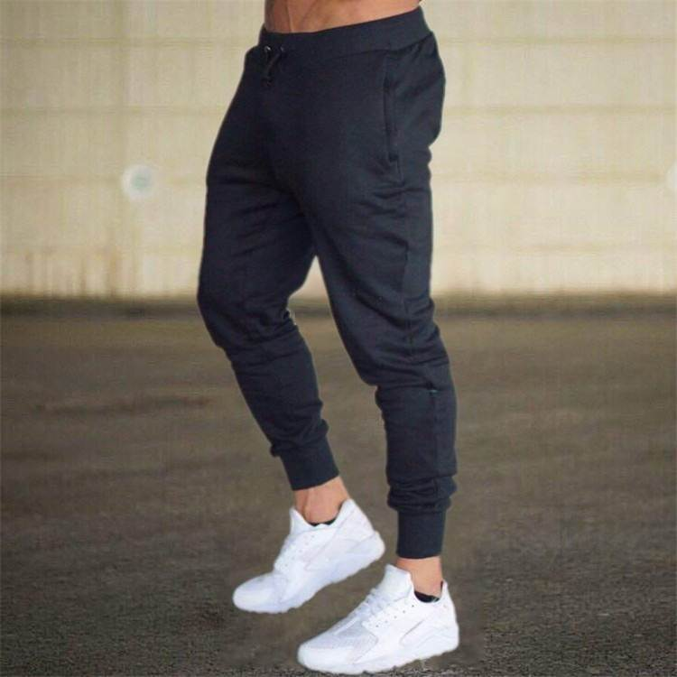 2019 High Quality Men Fitness Sports Casual Clothing Pants Solid Color Hip Hop Gym Wear Trousers