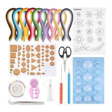 Paper diffracting tool set monochrome paper diffracting set paper quilling tool 19-piece set wholesale