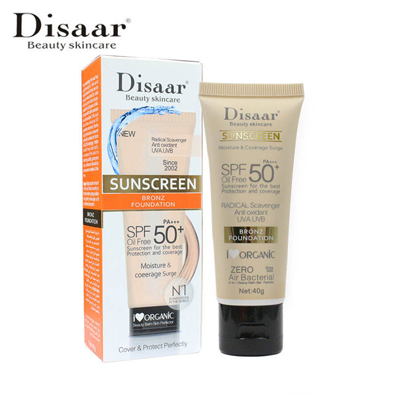 Disaar Facial Body Sun Screen Whitening Cream Oil Free Sunblock SPF 50 Sunscreen Cream