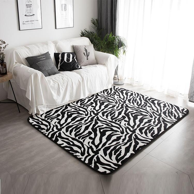 SIE SHANG Zebra Gute Durchlässigkeit <span class=keywords><strong>Möbel</strong></span> Weiß Und Schwarz Teppich