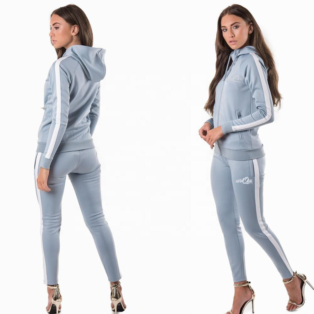 Premium Quality Design your own Women Joggers Sweat Suits Set Custom Cheap Price Women Tracksuits