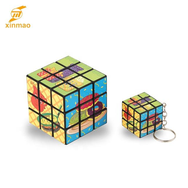 Hot selling 5.7CM Promotional Wholesale educational toy 3X3 magic puzzle cube for kids