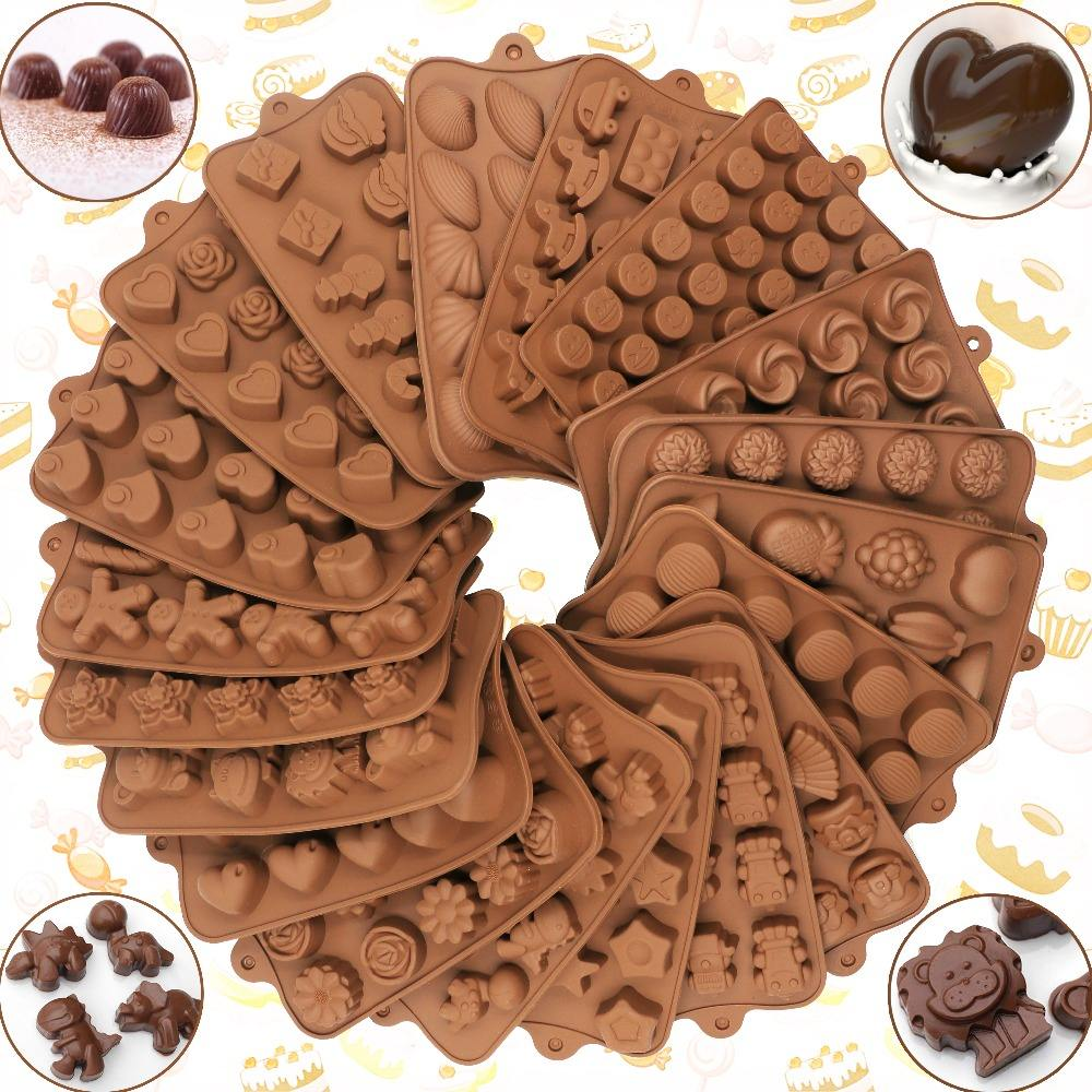 New Silicone Chocolate Mold 29 Shapes baking Tools Non-stick cake mold Jelly and 3D Candy Mold DIY best
