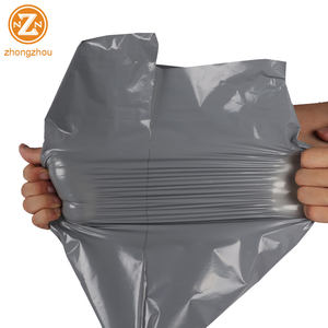 wholesale tearproof gray poly mailers envelope mailing courier express shipping packaging plastic bag for delivery