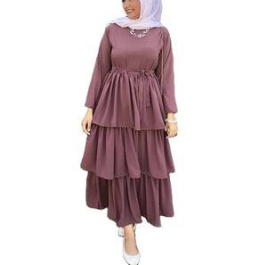 Wholesale Turkish Modern Three Layer Islamic Clothing Dubai Abaya Designs Muslim Dress