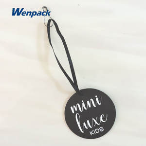 custom printed logo gift price garment paper hang tag for clothing label