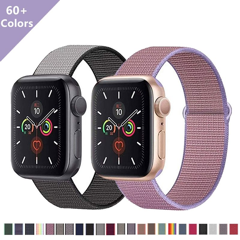 Magnetic 38mm-44mm Apple Watch Serie 5 4 3 2 1 Elastic Band Vintage Smart Nylon Nato Apple Watch Bands Strap