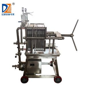 Shanghai Dazhang Small stainless steel filter press for oil  food  juice  fruit wine sugar refinery