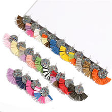 2021 Fashionable Tassel Earrings Handmade In Lots of Colors Stocks Sell Lafite grass Earrings Accept Small Order Lady Jewelry