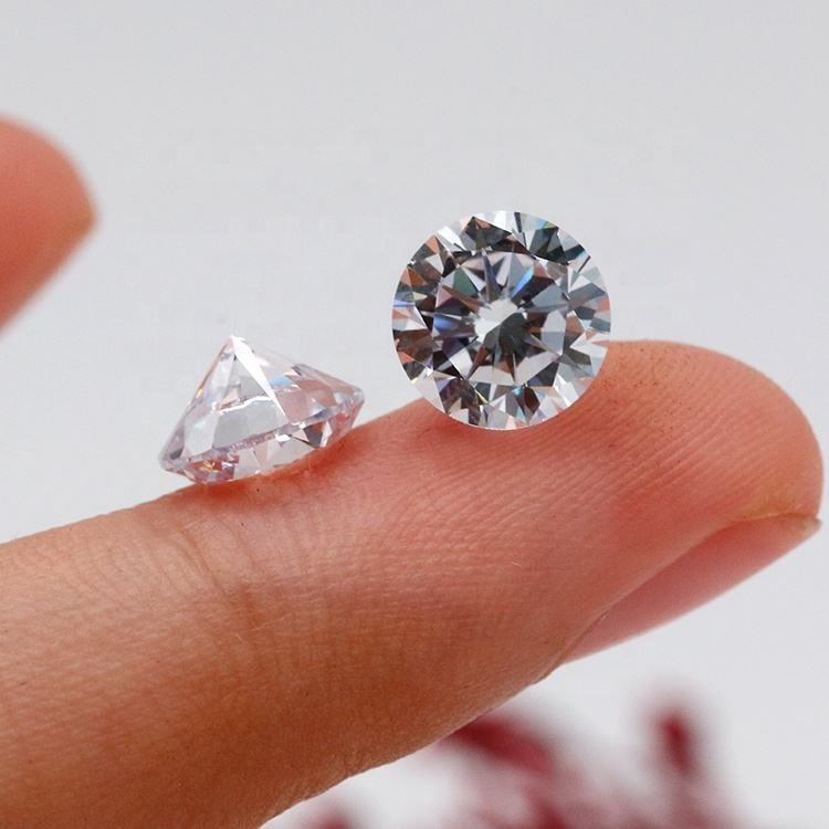 6.5mm VVS DEF Incolore Rond Synthétique Blanc Moissanite Diamant