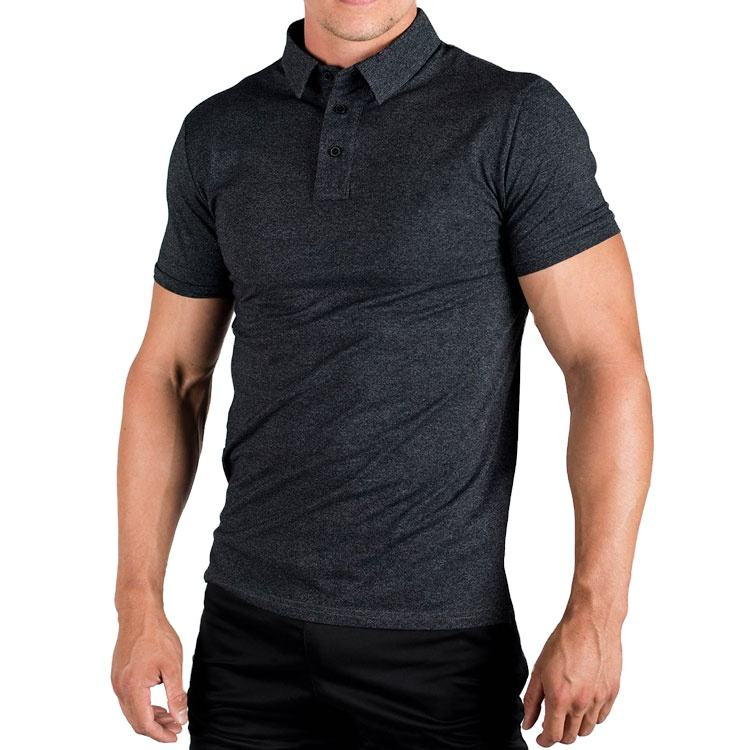 2020 Classic Workout Clothing Side Cut Short Sleeve Custom Men's Polo T Shirt