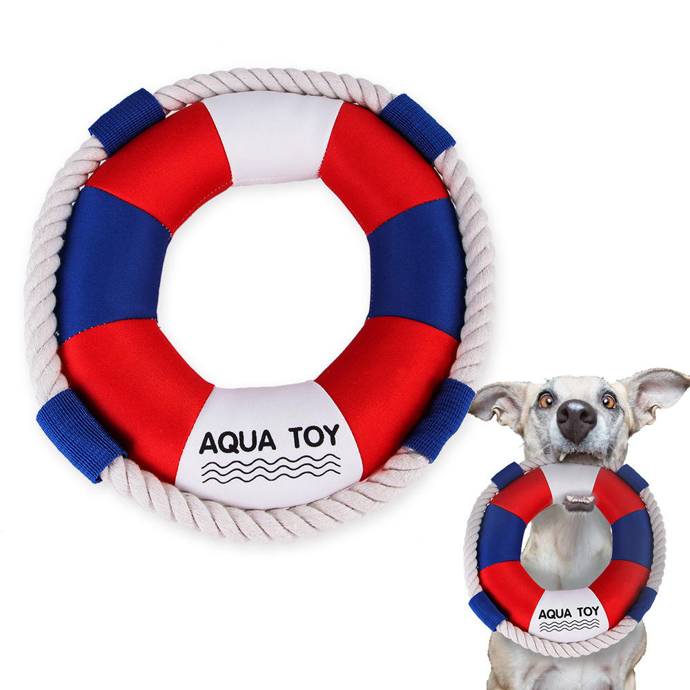 Squeaky Cheap Cotton Rope Stuffed Dog Toy Interesting Aqua Toy Pet Dog Toys