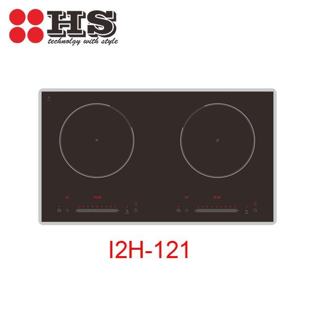 Four side bevel two burner induction cooker for home cooking
