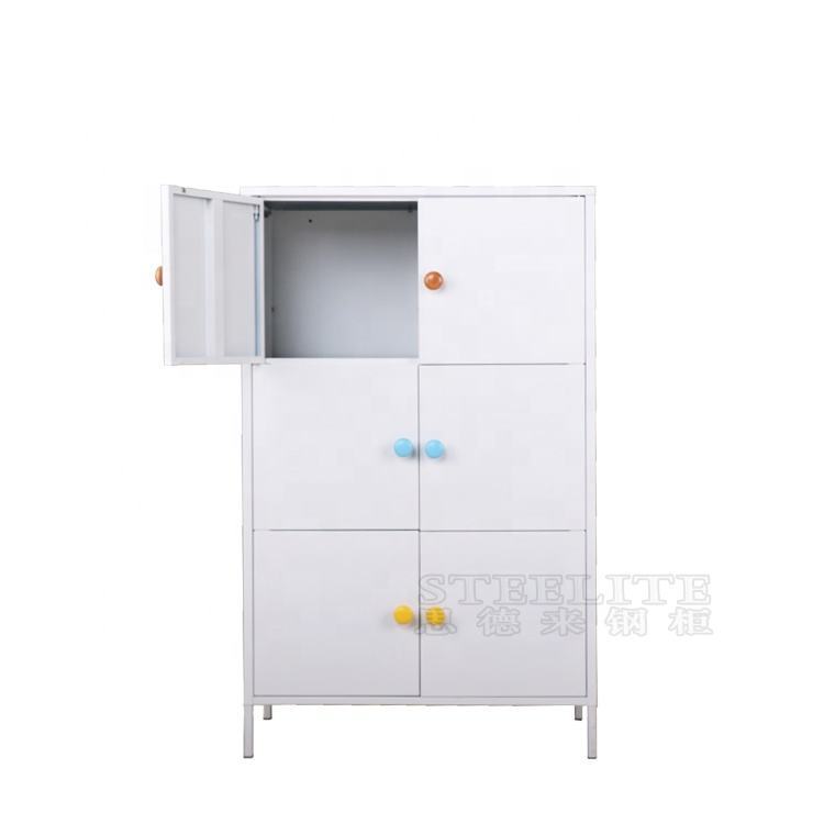 High Quality Living Room Furniture Design Metal 6 Door Cabinets Steel Sideboard For Sale