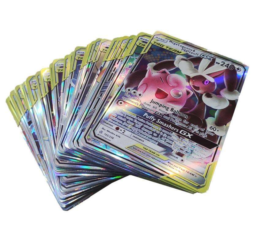 Per Pokemon Trading Card Game TCG 100 Carte Di TAG TEAM GX EX MEGA Energia Trainer Carte