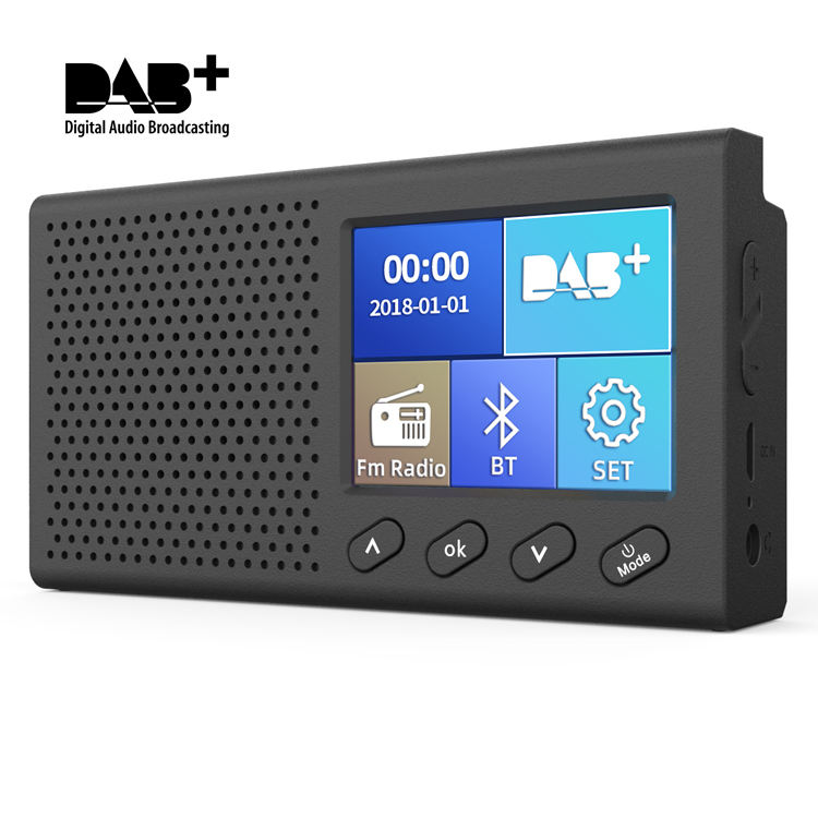 Portátil FM Mini rádio DAB/rádio DAB + Digital Receptor de Rádio FM com 3W Bluetooth Speaker