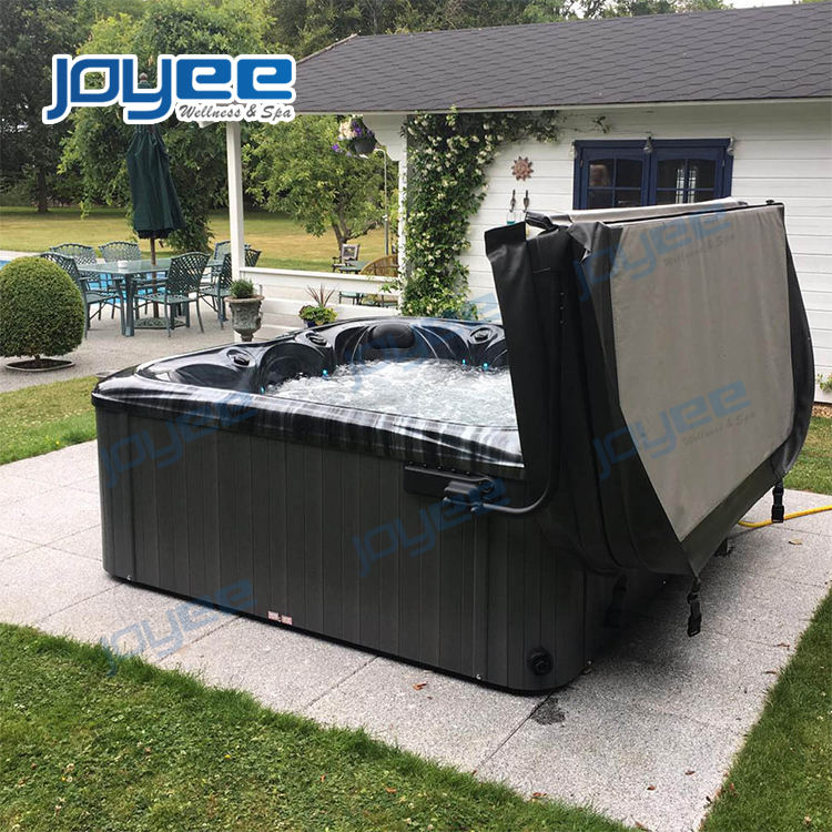 JOYEE 6 person massage bath whirlpool Large outdoor Waterfall spa hot tub Pool hydro massage Outdoor Spa Pool with jacuzzi
