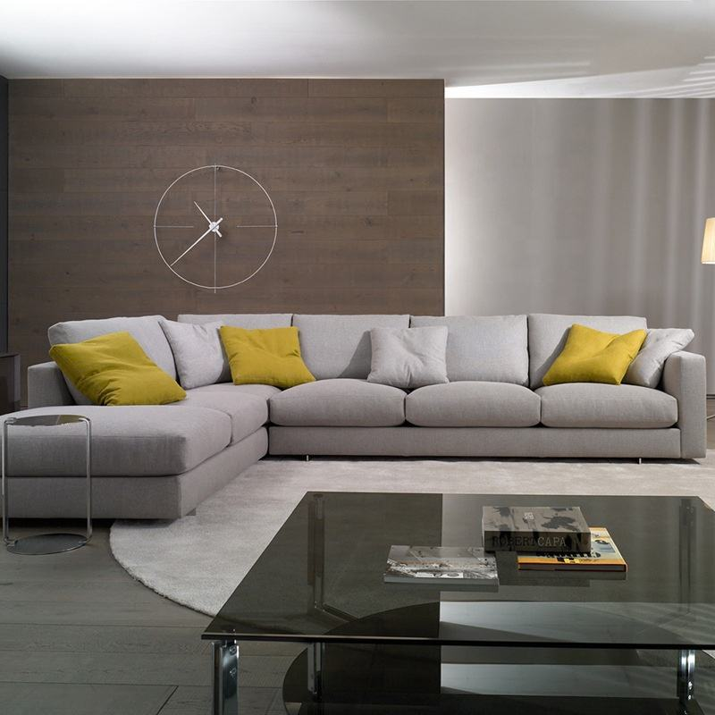 Fabric sofa combination removable and washable down cotton linen sofa