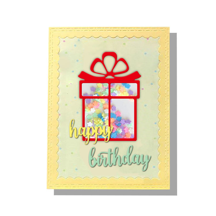 Gift box happy birthday wholesale metal art scrapbooking metal die