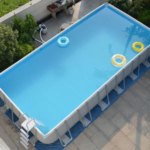 Folding Stable Water Game Swim Pool Metal Frame Pool Outdoor Family Swimming Pool
