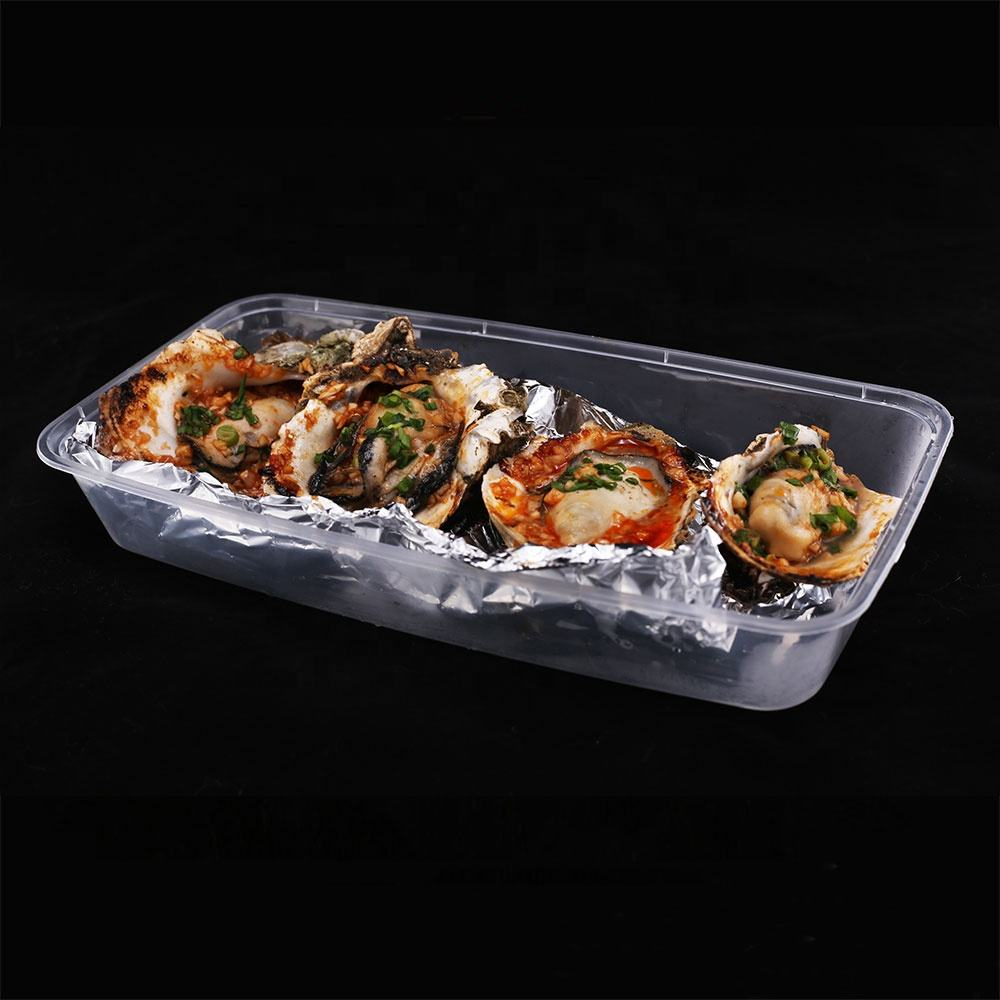 Microwaveable hot food container plastic to go lunch box food grade disposable box